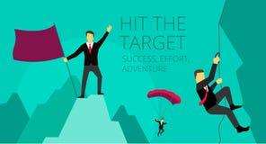 Vector illustration Businessman climbs the Stock Image