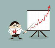 Vector illustration Businessman and positive graph Stock Images