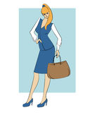 Vector illustration of businesswoman Royalty Free Stock Images