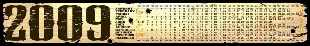 Vector illustration for Calendar 2009 Royalty Free Stock Photo