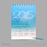 Vector illustration calendar for 2015. Brand identity company style template. Stock Images