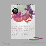 Vector illustration calendar for 2015. Brand identity company style template. Stock Photography