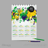 Vector illustration calendar for 2015. Brand identity company style template. Vector illustration calendar for 2015 on watercolor background. Brand identity vector illustration