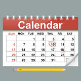 Vector illustration of calendar in flat style. Stock Image
