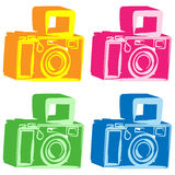 Vector illustration camera Abstract background Royalty Free Stock Image