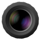 Vector illustration of camera lenses Royalty Free Stock Photography