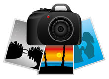 Vector illustration. Camera. Stock Photography