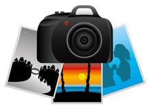 Vector illustration. Camera. Stock Photography