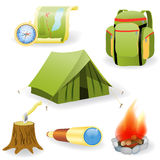 Vector illustration of camping collection Stock Photos