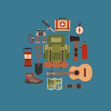 Vector illustration of camping concept. Stock Images