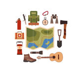Vector illustration of camping concept. Stock Photography