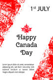 Vector illustration Canada Day. Canadian flag in trendy grunge style. 1 July design template for poster, banner, flayer Stock Images