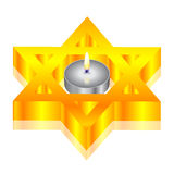 Of candle & star of David Stock Photos