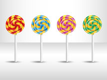 Vector illustration with candy. Royalty Free Stock Image