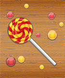Vector illustration with candy. Stock Photos