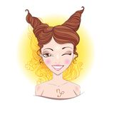 Vector illustration of Capricorn zodiac sign. Royalty Free Stock Images