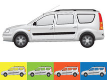 Vector illustration of the car in grey colors Royalty Free Stock Photography