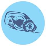 Vector illustration of a car headlight. Mazda Stock Photos