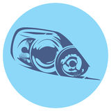 Vector illustration of a car headlight Stock Photos