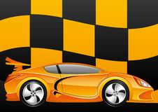Vector illustration. Car. Royalty Free Stock Photography