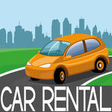 Vector illustration. Car rental. Stock Photo
