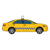 Vector illustration of car taxi Stock Photo