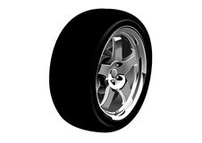 Vector illustration of car wheel Stock Images
