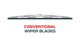 Vector illustration car WIPER BLADES. Royalty Free Stock Images
