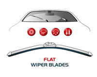 Vector illustration car WIPER BLADES. Royalty Free Stock Photos