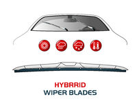 Vector illustration car WIPER BLADES. Stock Image