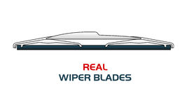 Vector illustration car WIPER BLADES. Stock Photo