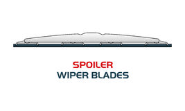 Vector illustration car WIPER BLADES. Vector illustration SPOILER WIPER BLADES. Car, Car parts, rain, snow, bad weather, autumn, winter. Web banners Stock Photo
