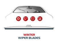 Vector illustration car WIPER BLADES. Royalty Free Stock Photography