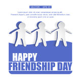 Vector illustration card with colourful text for friendship day. Stock Image