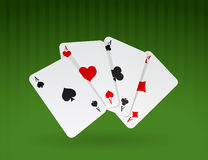 Vector illustration of cards on green background Royalty Free Stock Image