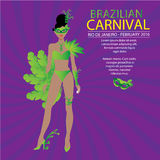 The Vector illustration of Carnival costume,vector design Royalty Free Stock Photo