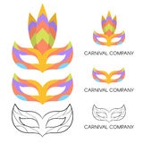 Vector illustration of carnival mask logo. Royalty Free Stock Image