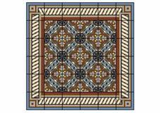 Large rectangular carpet Stock Photo