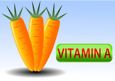 Vector illustration of carrot Royalty Free Stock Image