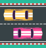 Vector illustration of cars Royalty Free Stock Photos