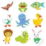 Vector Illustration Of Cartoon Animals.  Royalty Free Stock Photos