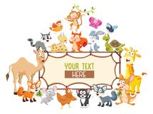 Vector Illustration Of Cartoon Animals. Eps 10 royalty free stock images