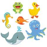Vector Illustration Of Cartoon Animals.  Stock Photo