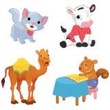 Vector Illustration Of A Cartoon Animals Stock Photography
