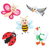 Vector Illustration Of A Cartoon Animals. Eps10 Stock Photography