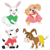 Vector Illustration Of Cartoon Animals Stock Images