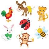 Vector Illustration Of Cartoon Animals Royalty Free Stock Photos
