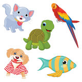 Vector Illustration Of Cartoon Animals Stock Photos