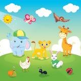 Vector Illustration Of Cartoon Animals Royalty Free Stock Photo