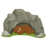 Vector Illustration Of Cartoon Bear Royalty Free Stock Photography